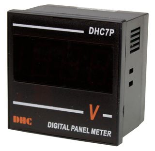 Voltmeter 600VAC 72x72mm Digital