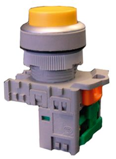 Pushbutton Ill Raised 240VAC LED Green 1 N/O