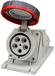 90Deg Surface Socket IP67 125A 415V 3P+N+E