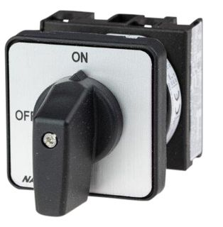 Cam Switch E Type 2Pole 20A On Off Panel Mount