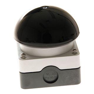 Push Button Foot-Palm Switch Enc Black 1No 1NC