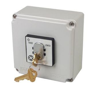 Key Switch Raise / Off / Lower In Aluminium Encl