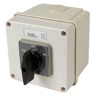 Reversing Switch 3 pole 20A Enclosed