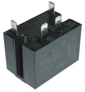 Relay Heavy Duty 24 VAC 25A 2 HP Rated DPST