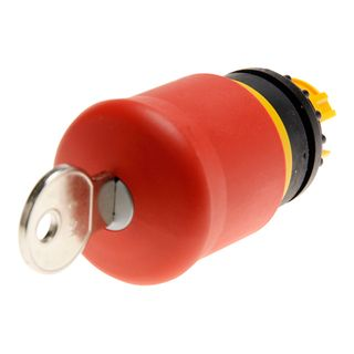 Pushbutton E/Stop Enclosed Key Release 1N/O 1 N/C