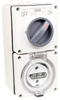 Switched Socket Outlet 5 Round Pin 50A 440V IP66