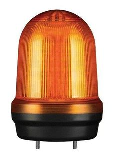 Warning Light IP65 80mm Amber LED 80dB 12-24VDC