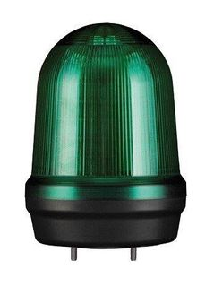 Warning Light IP65 100mm Green LED 80dB 12-24VDC