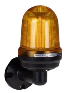 Warning Light IP65 W/M 80mm Amber 80dB 110-240VAC