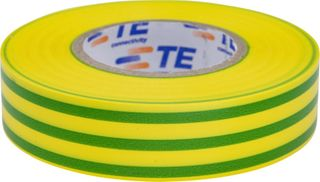 PVC Tape Roll Packet Of 10 Green / Yellow