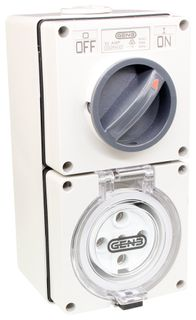 Switched Socket Outlet 5 Round Pin 32A 440V IP66