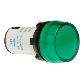 Pilot Light 22mm LED 240V AC Green