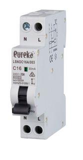 RCBO EUREKA 1 Pole Compact 10A C Curve 6kA 30mA