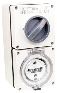 Switched Socket Outlet 5 Round Pin 40A 440V IP66