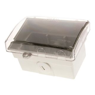 Mounting Block W/Proof with Hinged Plastic Lid