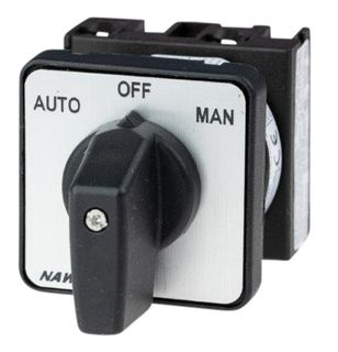Cam Switch E Type 1Pole 20A Auto Off Man Panel Mnt