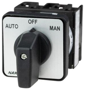 Cam Switch E Type 2Pole 20A Auto Off Man Panel Mnt