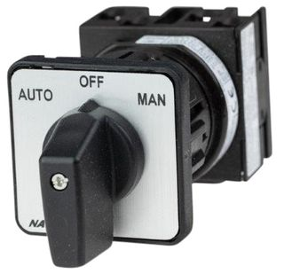 Cam Switch EZ Type 2Pole 20A On Off Man Panel Mnt