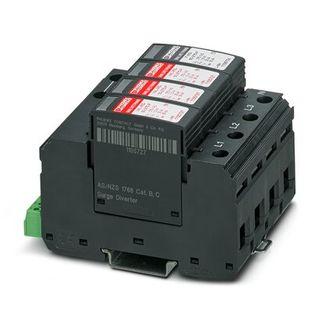Surge Arrestor 50kA - Replaceable Plug Alarm 3P-N