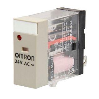 Relay Slim 24VAC 1 Pole SPDT 10A - test button-LED