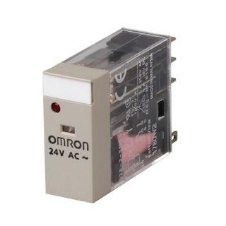 Relay Slim 24VDC 1 Pole SPDT 10A - test button-LED