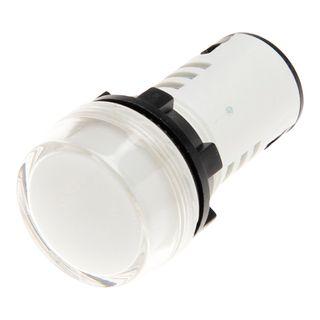 Pilot Light 22mm LED 12VAC/DC White