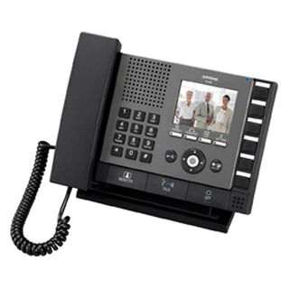 """AIPHONE, IX Series, IP Direct Master station, Video and Audio, 3.5"""" Colour LCD display, Handsfree or Handset, PoE 802.3af, Door release, Desk or wall mount"""