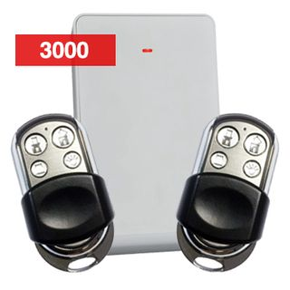 BOSCH, RADION Premium wireless kit, Includes 1x B810 receiver and 2x HCT4UL 4 button key fob transmitters (stainless), Suits Solution 3000, 433MHz