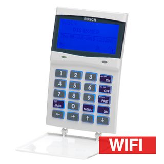 BOSCH, Solution 6000, Keypad with Integrated Wifi IP Module (2.5Ghz only)+ Tamper, Alphanumeric LCD, 144 zone, White, Touch tone & backlit keys, Suits Solution 6000 panel,