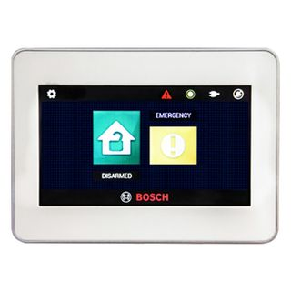 "BOSCH, Solution 844/880 Ultima, Key pad, 4.3"" touchscreen, Graphic LCD, White, Touch to arm feature, ICP-CC404P/ICP-CC488P"