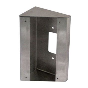 AIPHONE, Surface mount box, 30 degree angle, stainless steel, suits JODV, JKDV, JPDV.