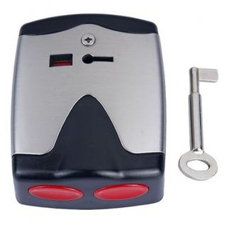 SECOR, Dual Press Hold Up Button, Latching, Key reset, Hardwired, 2 outputs (alarm and tamper)