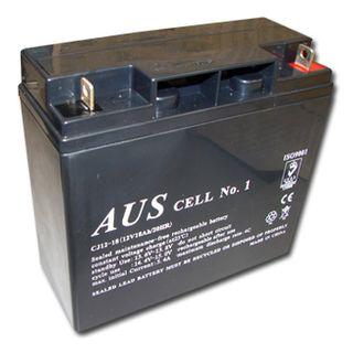 BATTERY, 12 Volt 18AH sealed lead acid, Dimensions (not inc. terminals) 180(W)mm x 76(D)mm x 166(H)mm,