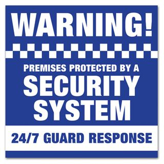 NETDIGITAL, Security System Warning Sticker, 100 x 100mm, UV rated
