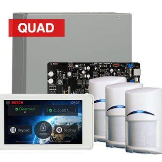 "BOSCH, Solution 3000, Alarm kit, Includes ICP-SOL3-P panel, IUI-SOL-TS5 5"" Touch screen, 3x ISC-BPQ2-W12 Quad detectors"