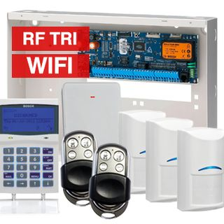 BOSCH, Solution 6000, Wireless alarm kit, Inc CC600PB panel, CP741B LCD WIFI keypad, 3x RFDL-11 wireless PIR detectors, RFRC-STR2 Radion receiver, 2x HCT4UL transmitters