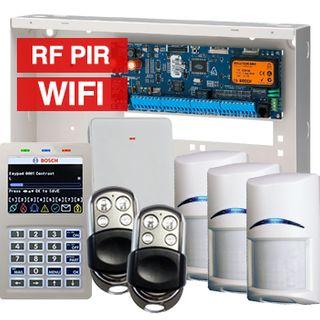 BOSCH, Solution 6000, Wireless alarm kit, Inc CC600PB panel, CP741B LCD WIFI keypad, 3x RFPR-12 wireless PIR detectors, RFRC-STR2 Radion receiver, 2x HCT4UL transmitters