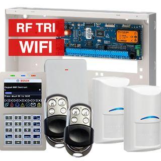 BOSCH, Solution 6000, Wireless alarm kit, Inc CC600PB panel, CP741B LCD WIFI keypad, 2x RFDL-11 wireless Tritech detectors, RFRC-STR2 Radion receiver, 2x HCT-4UL transmitters