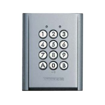 AIPHONE, Keypad, surface mount, vandal and weather resistant, stand alone, 100 users, relay output, backlit keys, IP54 rated, 12 - 24V AC/DC