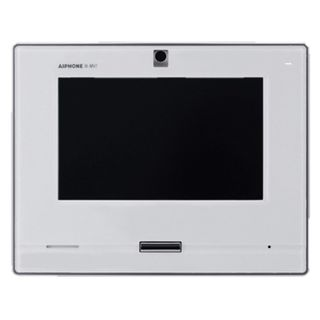 """AIPHONE, IX Series, IP Direct Master station, Video and Audio, 7"""" Colour LCD display, Handsfree, White, PoE 802.3af, Door release, Desk or wall mount,"""