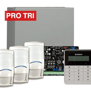 BOSCH, Solution 3000, Alarm kit, Includes ICP-SOL3-P panel, IUI-SOL-TEXT keypad, 3x  ISC-PDL1-W18G PIR detectors,