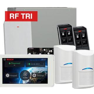 "BOSCH, Solution 3000, Wireless Alarm kit, Includes ICP-SOL3-P panel, IUI-SOL-TS5 5"" LCD Touchscreen keypad, 2x RFDL-11 Wireless Tri-Tech detectors, B810 Wireless receiver, 2x RFKF-FB transmitters"