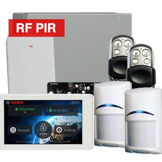 BOSCH, Solution 3000, Wireless Alarm kit, Includes ICP-SOL3-P panel, IUI-SOL-TS5 LCD Touchscreen keypad, 2x RFPR-12 Wireless PIR detectors, B810 Wireless receiver, 2x HCT-4UL transmitters,.