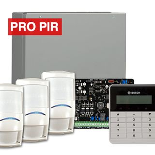 BOSCH, Solution 3000, Alarm kit, Includes ICP-SOL3-P panel, IUI-SOL-TEXT keypad, 3x  ISC-PPR1-W16 PIR detectors,