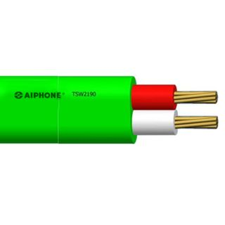 AIPHONE, KB Wire Polyethylene Cable, 0.9mm Dia Conductor, Green, suits all Aiphone video intercoms, 100m roll,