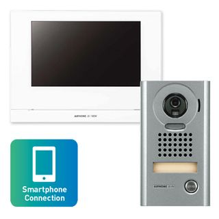 AIPHONE, JO Series, WIFI Video intercom kit, Colour, Hands free, Includes 1 x JO1MDW master station, 1 x JODV surface mount vandal door station, 1x power supply