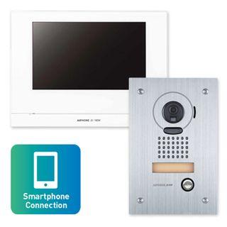 AIPHONE, JO Series, WIFI Video intercom kit, Colour, Hands free, Includes 1 x JO1MDW master station, 1 x JODVF flush mount vandal door station, 1x power supply