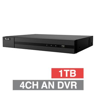 HILOOK, Analogue HD DVR, 4 channel, 2CH IP support, 50fps record speed, 1x 1TB SATA HDD (up to 1x 8TB), VMD, USB/Network backup, Ethernet, 2x USB2.0, 1 Audio In/Out, HDMI/VGA, Smartphone