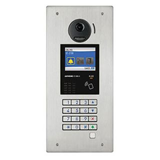 AIPHONE, GT Series, Door station, Stainless steel, Flush mount, Includes camera, speech module, digital keypad and name scroll module, NFC card reader, GF-3B back box req.