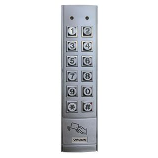 BOSCH, Solution 6000, External keypad with Prox, 6x2 Slimline style, Satin Chrome, Touch tone & backlit keys, IP67 weather resistant, Vandal resistant.